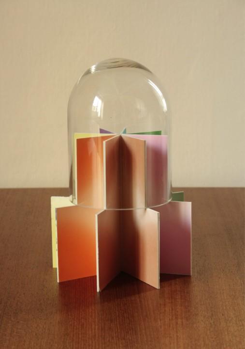 Glas, Finnpappe, Origamipapier, 25 x 15 x 15 cm